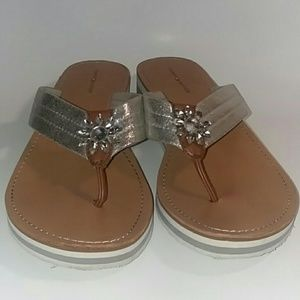 0ea478a3 Tommy Hilfiger. Tommy Hilfiger Flower Embellished Thong Sandal
